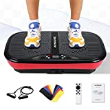 MaxKare Vibration Plate Platform Machine-Whole Body Fitness Vibration Massage Workout | 2 Loop+5 Resistance Bands | 3 Vibrating Zone+99 Speed+10 Mode-Excercise Machine for Weight Loss & Toning