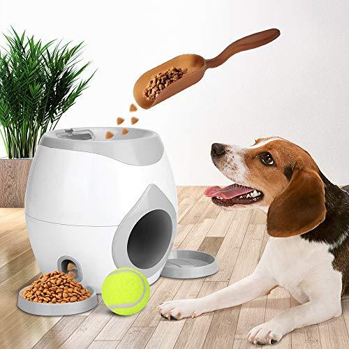 Intelligenzspielzeug Urijk Feeder Spielzeug für Hunde Haustier Ballwurfmaschine Automatischer Ballwerfer Tennisball Wurfmaschine für Hundetraining mit Ball