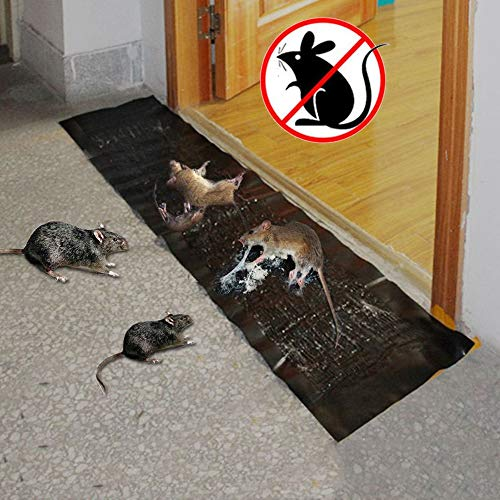 Ultrasone elektronische insecticide 2-delige muis Knaagdieren Lijm Rat Trap Board Muizen Killer Lengte: 1.2 m