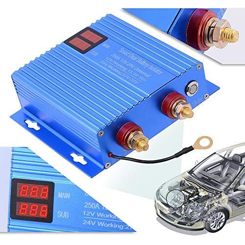 Interruptor de Encendido, 12V 24V ON / OFF INTERPORTE Normalmente abierto Controlador de interruptor con la herramienta de reparación automotriz LED 250A Relé de aislador de doble batería de alta pote