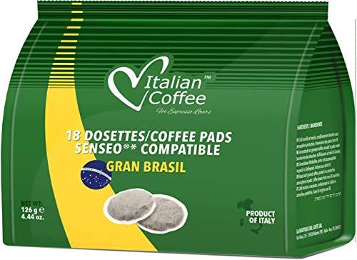 Senseo Capsulas Compatibles 180 ud (10 x18 Monodosis de Café Degustación 3 Variedades)