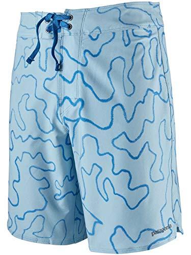 Patagonia M's Stretch Hydropeak Gerry Lopez Boardshorts-18 in. Short Homme, Bleu Ciel (High Pacific Camo : Big Sky Blue), 30