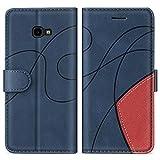 SUMIXON Hülle für Galaxy J4 Plus 2018, PU Leder Brieftasche Schutzhülle für Samsung Galaxy J4 Plus 2018, Kratzfestes Handyhülle mit Kartenfächern & Standfunktion, Blau