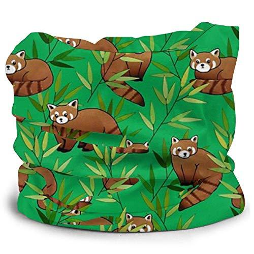 Emonye Red Panda & Bamboo Leaves Pattern Fashion Bandana Headband Neck Warmer Helmet Liner Hatliner Scarf Warmer for Men & Women