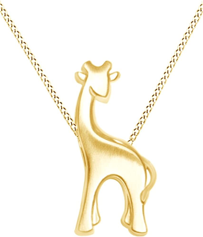 Animal Love Giraffe Pendant Necklace in Sterling Max Sales of SALE items from new works 64% OFF Over Gold S 14K
