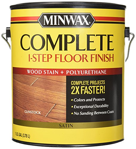 Minwax 672090000 Complete 1 Step Floor Finish, 1 Gallon, Gunstock