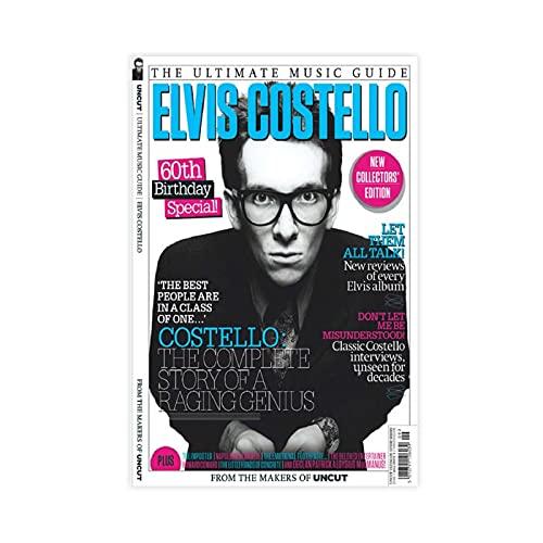Elvis Costello Music Series Revistero Vintage Poster Lienzo Póster Decoración de pared...