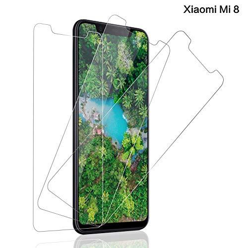 Panzerglas Bildschirmschutzfolie für Xiaomi Mi 8, [3 stück] 9H Festigkeit Mi 8/ Mi 8 Pro Panzerglasfolie, Anti-Kratzer Schutzglas, Anti-Öl, Bläschenfrei Transparent, Mi 8/ Mi 8 Pro Panzerglas Schutzfolie