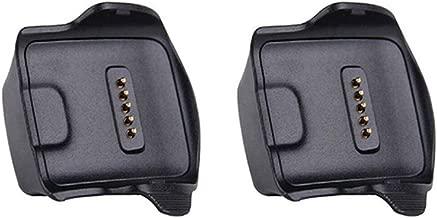 Kissmart for Gear Fit Charger (2PCS), Replacement Gear Fit Charger Charging Cradle Dock for Samsung Gear Fit R350 Smart Watch (Black - 2PCS)