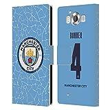 Head Case Designs Licenciado Oficialmente Manchester City Man City FC Gemma Bonner 2020/21 Kit Hogar Mujer Grupo 1 Carcasa de Cuero Tipo Libro Compatible con Microsoft Lumia 950