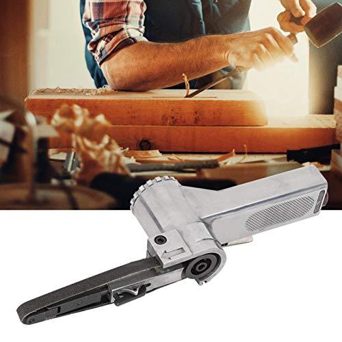 Oumefar Wide application Sanding Machine, high efficiency Pneumatic Belt Sander, energy-saving 10mm Belt Pneumatic Belt Sander easy to operate work for Woodworking