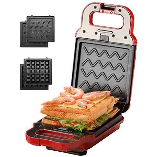 Gofrera eléctrico 2 En 1 Sandwichera Waffle Maker Pastel DIY Multifunción Grill...
