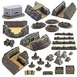 War World Gaming World at War Full Trench System Battlefield Set – 28mm WW1 Tabletop Wargame Terrain Scenery Western Front Battlefield Warfare Military Diorama