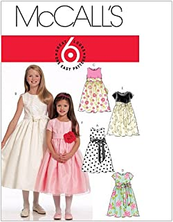 McCall's Patterns M5795 Children's/Girls' Lined Dresses and Sash, Size CCE (3-4-5-6)