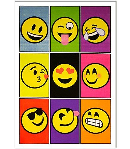 Opticz Emoji Nine Blacklight Poster 23 x 35in