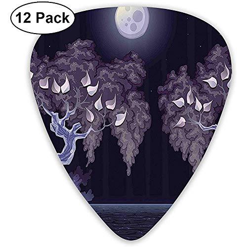 12 Pack De magische nacht van Dramatische Lake is Dramatische Gitaar Picks Complete Gift Set voor Gitarist