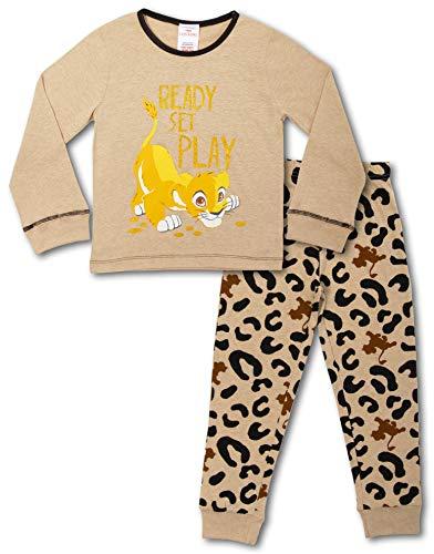 Disney König Der Löwen Schlafanzug Kinder | Mädchen Schlafanzug Lang | Lion King Simba Pyjama Mädchen Langarm Tshirt Mädchen Schlafanzug | Offizielles Merchandise | Geschenk für Kinder (2/3 Jahre)