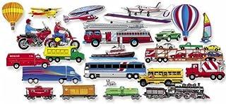 Little Folk Visuals Train, Trucks & Planes Precut Flannel/Felt Board Figures, 24 Pieces Add-On Set