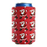 Pack of 2 Plain Fit 12-16 OZ Bottles Insulated Beverage Beer Can Sleeve Covers Funny-Dabbing-Santa-Claus-Christmas-Dab- Collapsible Cans Cooler Covers Parties