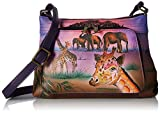 Anna by Anuschka Hand Painted Leather Women's Cross Body Organizer, Serengeti Sunset