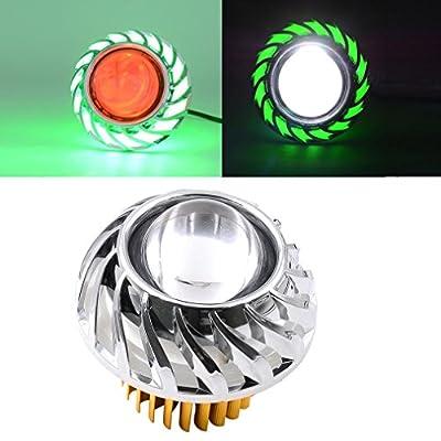 Quaanti 2018 New Arrival High/Low Beam LED Headlight For Motorcycle Angel Eyes White Devil Eye light car styling