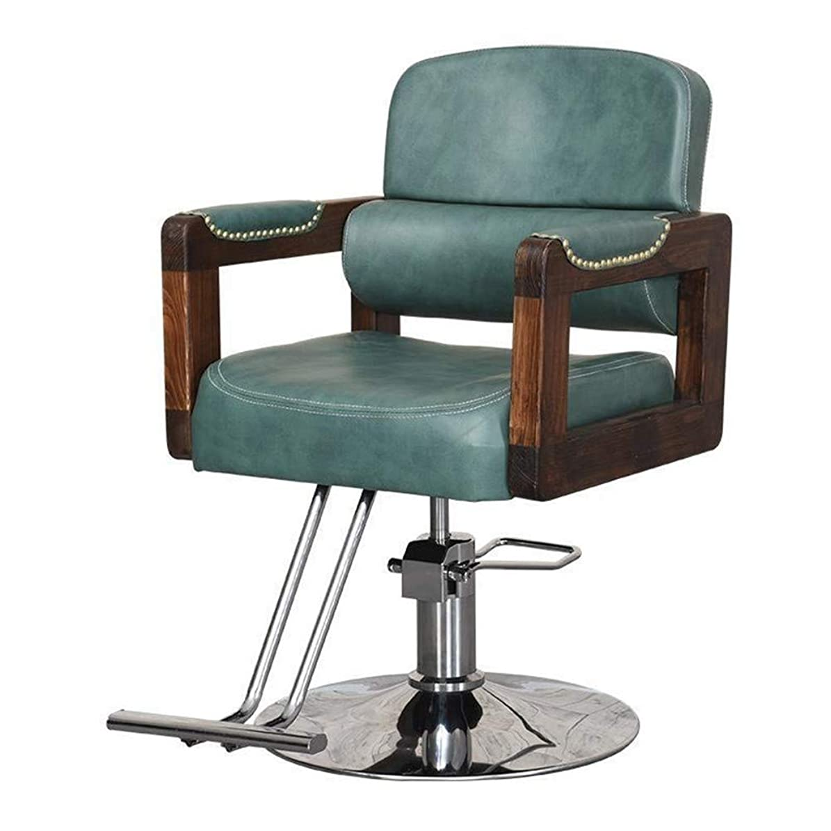 スライム絡み合いビデオサロンの椅子は専門の油圧理髪店の椅子の大広間の美容院の鉱泉のモデリングチェアの円形の基盤を持ち上げるために回すことができます,Brown,B