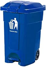 LONGren Wheeled Trash Can Garbage Container Outdoor Plastic Waste Bin Basket- Trash Can with Lid - Outdoor Trash Can for P...
