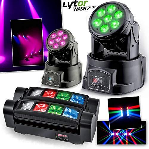 Scheinwerfer lytor wash7LEDs DMX RGB 4W + Weiß + Spider microspid RGBW 8x 3W Ghost