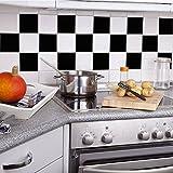 Adhesivos para Azulejos - Paquetes con 24 (20 x 20 cm, Azulejos para Baños, Azulejos para Cocina, Vinilos Decorativos Pared, Azulejos para Pisos, Azul