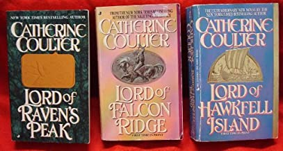 THREE PAPERBACK BOOKS BY CATHERINE COULTER: Lord of Hawkfell Island, Lord of Falcon Ridge, Lord of Ravens Peak