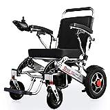XINTONGDA Apoad faltbar und leicht zu bedienende intelligenter automatischer elektrischer Rollstuhl, Sitzbreite 45 cm, 360 ° Joystick Last 100 kg -