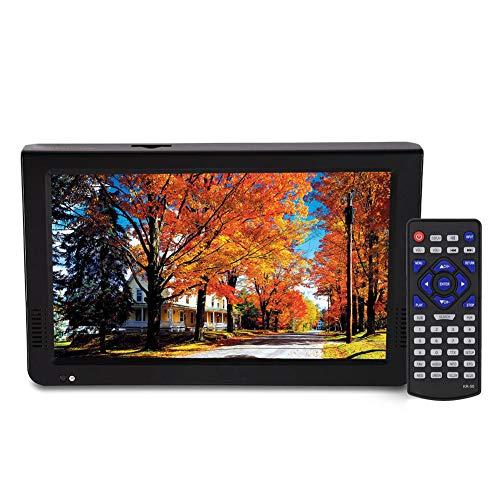 VBESTLIFE T-T2 TV Portatile TV analogica Digitale TV Portatile, risoluzione 1024x600, RMVB/Avi/MPEG/MKV/MOV 1080P Video, 10 Pollici