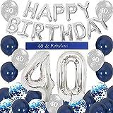 Decorazioni per il 40 ° compleanno di uomini o donne Banner di palloncini di buon compleanno, fascia per set di 40 anni di anniversario di buon compleanno