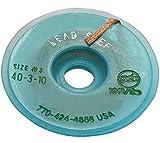 AERZETIX: Cinta desoldadora Trenza de Cobre 2mm/3m sin Plomo No Clean Sin Necesidad de Limpieza