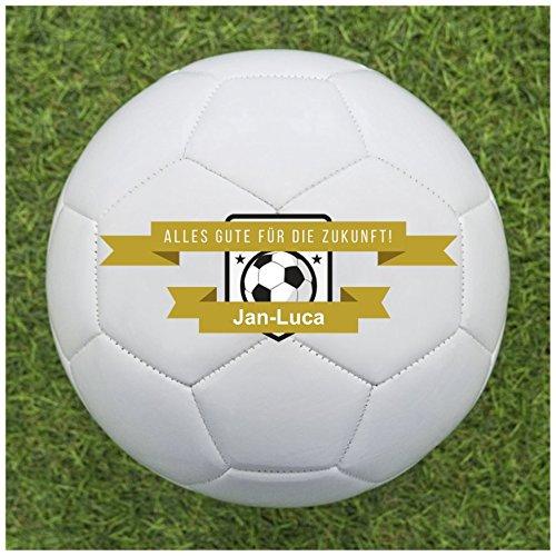 Fußball als Geschenk personalisieren [Alles Gute für die Zukunft] - Fußball selbst gestalten und mit eigenem Text oder Namen bedrucken lassen