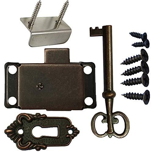 Bronze Cabinet Lock Locker Door Lock Spring Door Lock Installation Easy and Beautiful (Bronze)