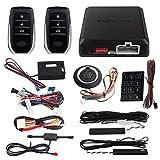 EASYGUARD EC002-T2-NS PKE Car Alarm System Proximity Sensor Lock Unlock Remote Engine Start Push Start Button Touch Password Entry Backup Vibration Alarm DC12V