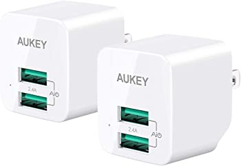 2-Pack Aukey USB Ultra-Compact Dual Port Wall Charger