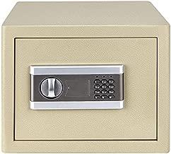 ETE ETMATE 1.0 Cub Fireproof Safe Cabinet Security Box, Digital Combination Lock Safe with Keypad LED Indicator, for Cash Money Jewelry Guns Cabinet (Light Grey)