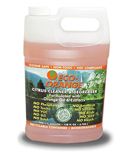 Eco Orange 1 Gallon Super Concentrate. Strongest All-Natural, All-Purpose Orange-Based Cleaner. Makes up to 16 GALLONS After Dilution. Non-Toxic, Allergy-Free, Eco-Friendly. Safe for Family, Pets.