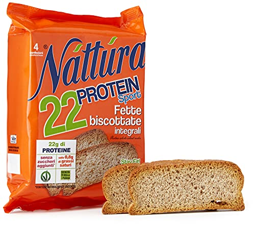 Eurofood Fette Biscottate Integrali Nattura Protein Sport - 120 g