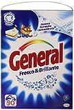 General - Detersivo Nuova Formula Concentrata, Fresco & Brillante - 4950 g