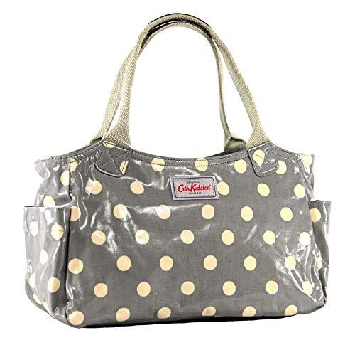 Cath Kidston - Bolsa de día con botones en tela de hule gris