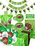 Football Party Supplies Sports Theme Party Pack for Game Day and Birthday Including Dinner Plates, Dessert...