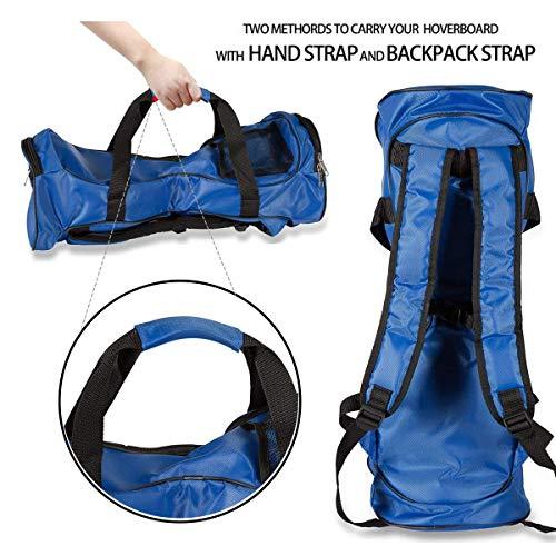 Hover Bag Impermeable para Dos Ruedas Equilibrio eléctrico Scooters Inteligentes Borad (Mochila de Transporte y Bolso de Moda) con Correas de Hombro Ajustables y Malla de Almacenamiento (Blue)