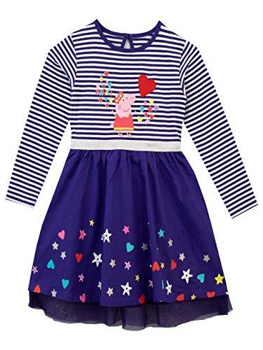 Peppa Pig Vestido para niñas Morado 3-4 Años