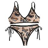 Nuevo 2021 Mujer Bikini Conjunto de Bikinis Mujer dos piezas Impresión arco Ropa de Playa Sexy Talle bajo Push up Bikini Cordón Tankinis mujer Beachwear Bañador Mujer Trajes de Baño