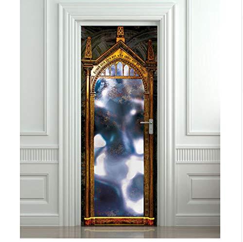 Diy 3D Wandaufkleber Wandbild Home Decor Hogwarts Spiegel Des Wunsches Art Removable Door Sticker Decole 77X200 Cm Türaufkleber