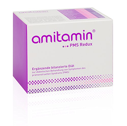 amitamin® PMS Redux - Zur diätetischen Behandlung von Symptomen des prämenstruellen Syndroms (PMS), 60 Ölkapseln und 30 Trockenkapseln