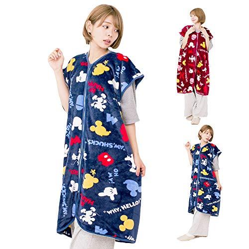 人気の Disney ディズニー 契約商品 あったか スリーパー マイクロファイバー毛布で製造 暖かスリーパー 大人.子供兼用 70×100cm ネイビーブルー